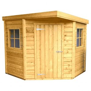Corner Pent Shed With no Background