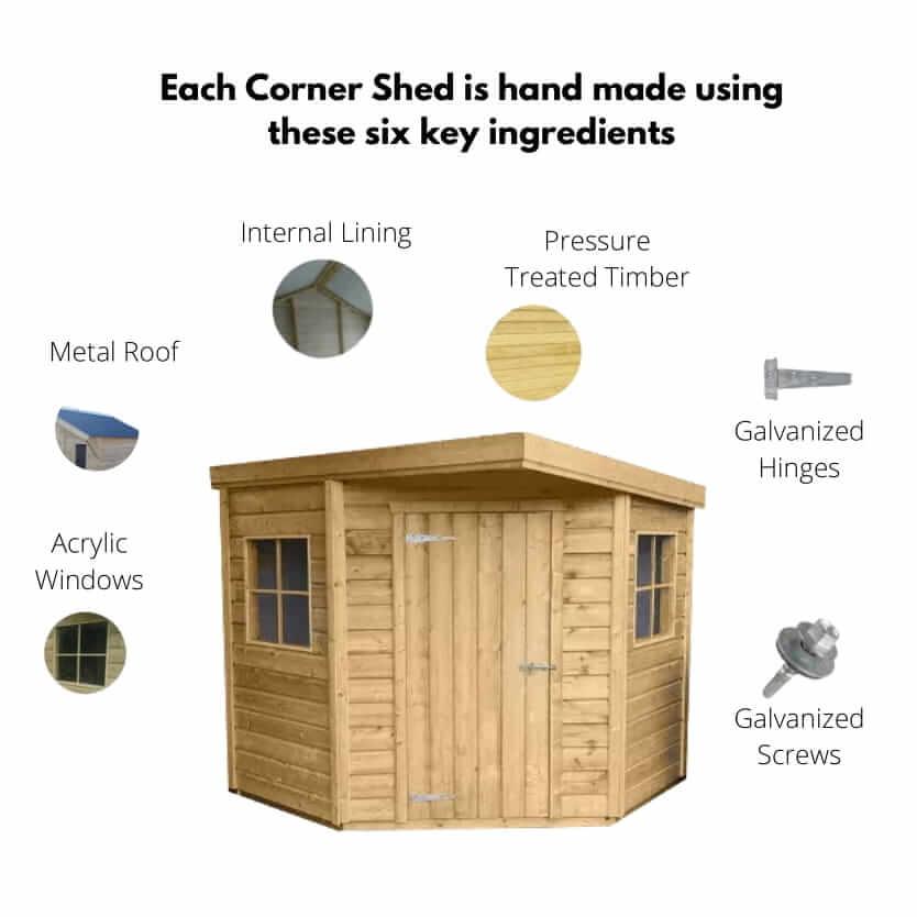Corner Pent Shed Build Quality
