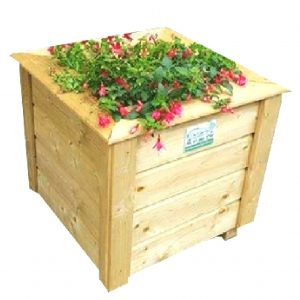 Square Planter Box with No Background