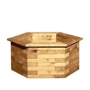 Hexagonal Planter Box with No Background