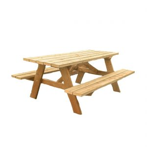 5ft Picnic Bench with No Background