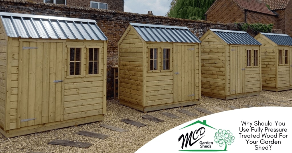 Collection Of Pressure Treated Garden Sheds